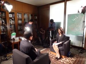 テレビ朝日「報道ステーションSUNDAY」のインタビュー