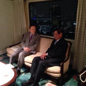 カンボジアのサル・ケン副首相兼内務大臣と懇談