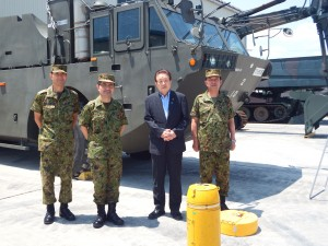 2014年6月 災害支援や国連平和維持活動(PKO)などで活躍しているひたちなか市の勝田自衛隊施設学校を視察。