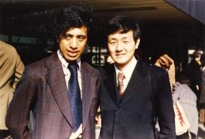 1975年デンマーク訪問。ニュージーランドのマオリ族のジミー・ウッドと。