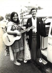 1977年ニュージーランドのマオリ族の友人と