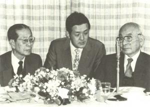 1980年?カンボジア連合政府ソン・サン首相と土光敏夫国際MRA日本協会会長(経団連会長)との通訳を務める