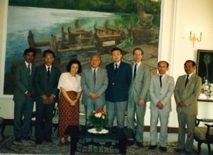 1992年カンボジアのシアヌーク殿下に謁見