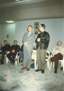 1993年11月26日レバーン内戦のキリスト教とイスラム教の和解活動を行う