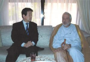 2004年4月 イラクでの日本人人質事件の調査救出活動でヨルダン訪問。キーラーニ元宗教大臣の支援を頂く。
