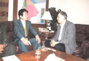 2004年4月 イラクでの日本人人質事件の救出活動でヨルダンのズフディ・アブサドラザット・アルハッサン内務大臣の支援を頂く。