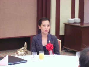 レセプションに出席されたタイのバチャラキティヤパー王女。