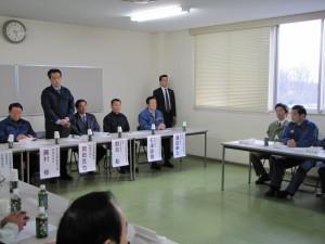 民主党の岡田克也幹事長を初めとする民主党の調査団が茨城県の大震災の被害状況の視察と関係者の要望聞き取りのために来県