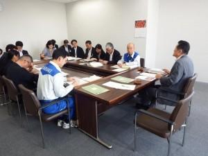 茨城県庁を訪れ常総市などの災害に対して情報交換しました