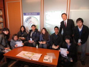 横浜国立大学の私の生徒さんたちが国会見学に来てくれました