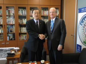 米国人大使館のロバート・ラプソン政務担当公使の表敬訪問を受けました