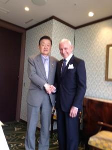 国際移住機関(IOM)のウィリアム・レイシー・スウィング事務局長と会談しました