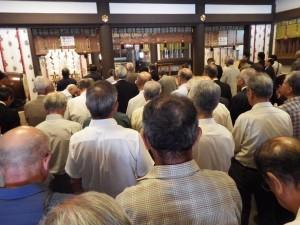 水戸市神社総代会総会で挨拶させて頂きました