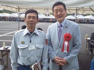 大子町で開催された茨城県北部地区消防ポンプ操法大会に出席しました