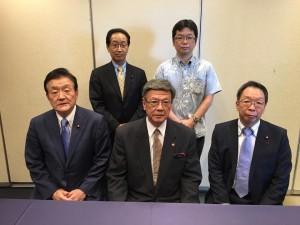 民進党沖縄研究会で、沖縄県の翁長知事にお会いしました