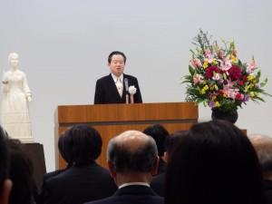 水戸医師会看護専門学院新校舎の竣工式に出席しました