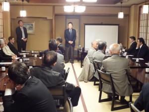 水戸知道会で、茨城ロボッツの山谷拓志社長と大谷隆太郎選手と懇談しました