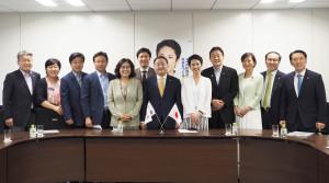 【民進党ニュース】蓮舫代表、姜昌一韓日議連会長と会談