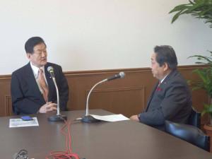 23日は茨城放送北島社長との新春インタビューの収録を行いました