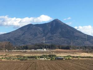 筑西市からの筑波山です。