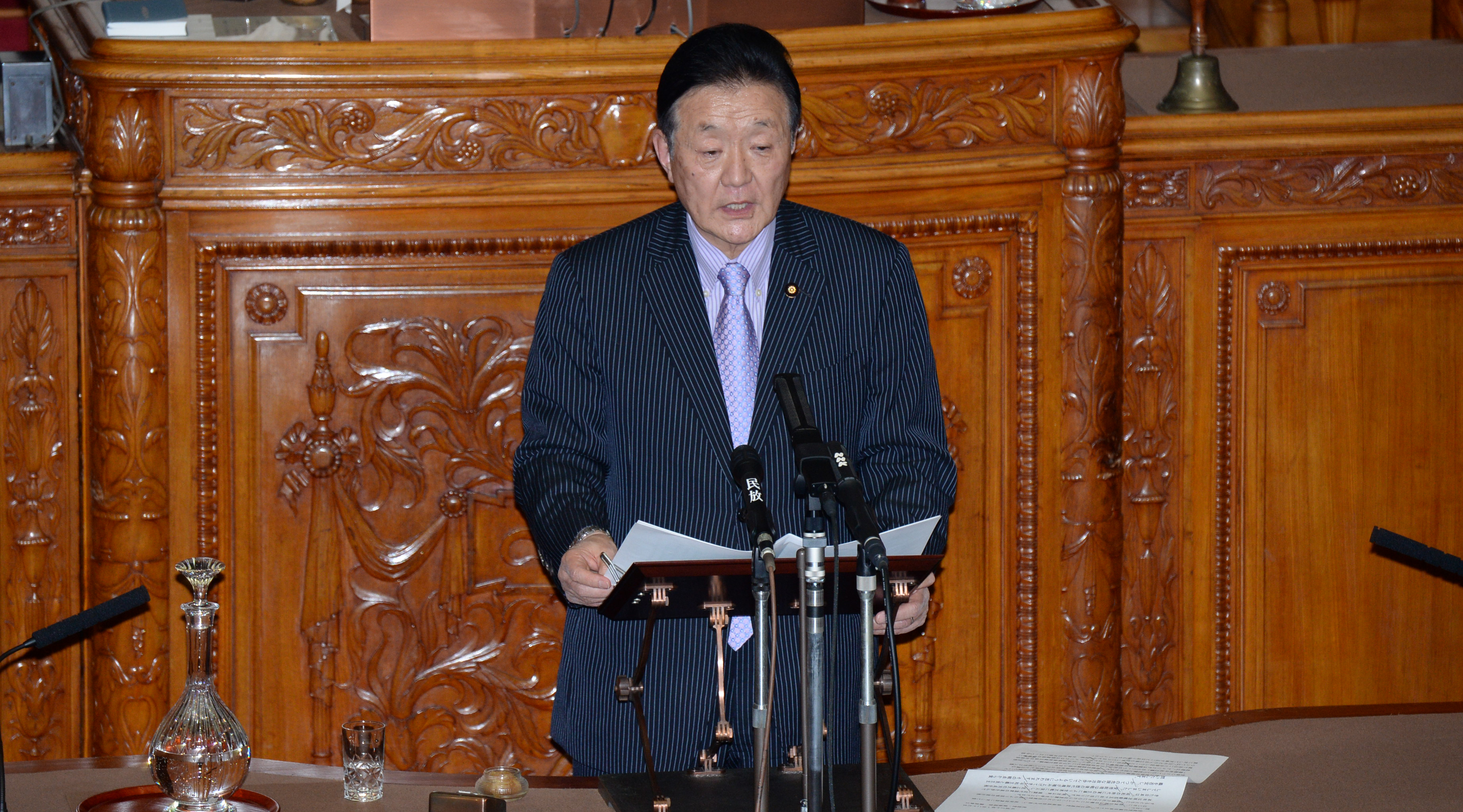 【民進党ニュース】参院本会議 藤田幸久議員が外交問題を中心に代表質問
