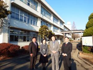 母校の茨城大学付属中学校を訪問しました