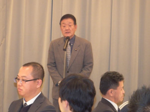 日本公認会計士協会東京会茨城県会並びに政治連盟東京会茨城支部の新年会に出席しました