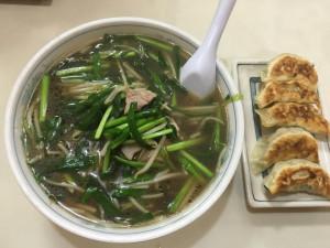 夕食は土浦市にある大成軒のニララーメン