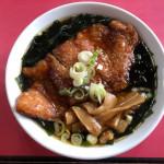 昼食は、筑西市『松園』の、ワカメばーこーめんで元気をつけました!