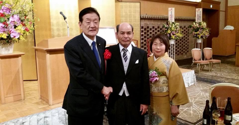 茨城県建築連合会の中野進委員長の瑞宝単光章を祝う会に出席しました