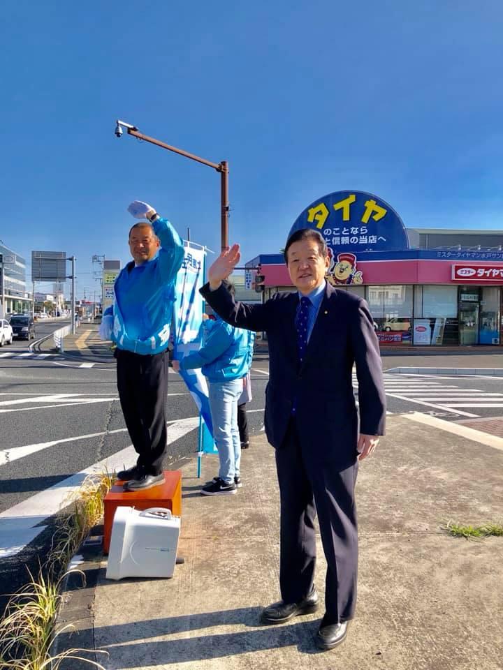 選挙選最終日、「はぎや慎一」候補と共にスタート!