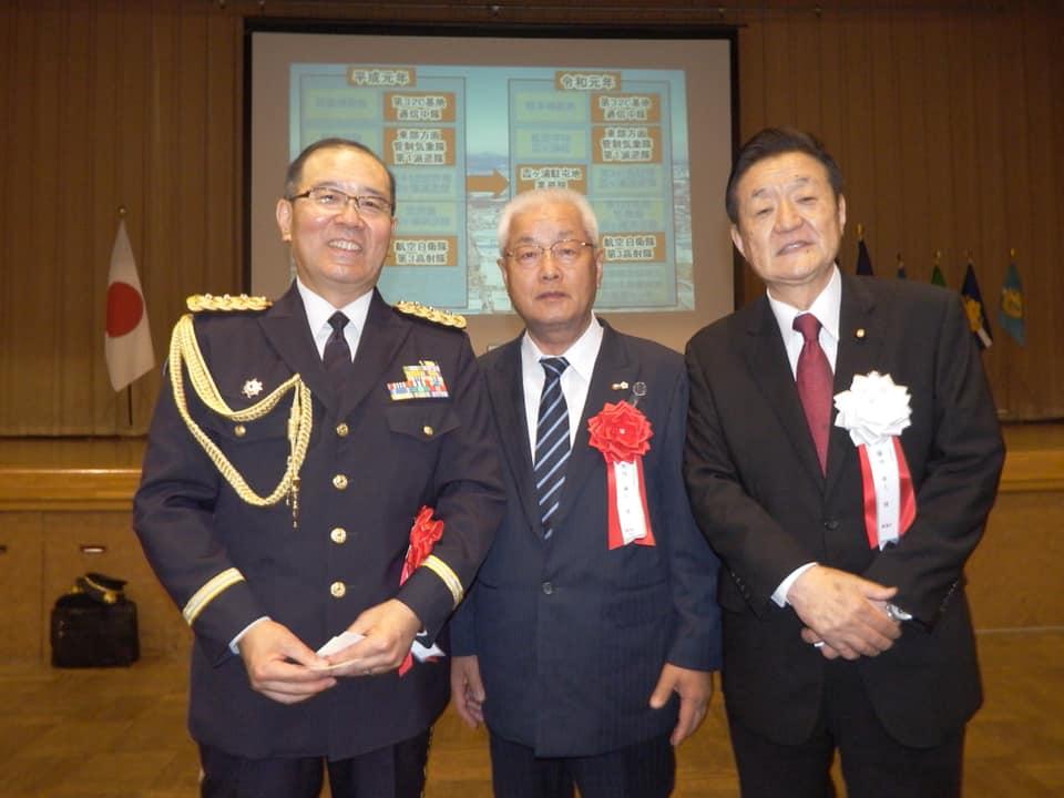 自衛隊の周年行事に出席させて頂きました。
