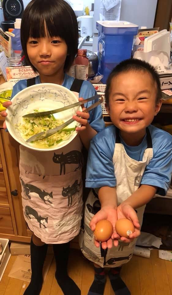 孫たちがラーメンを作ってくれました