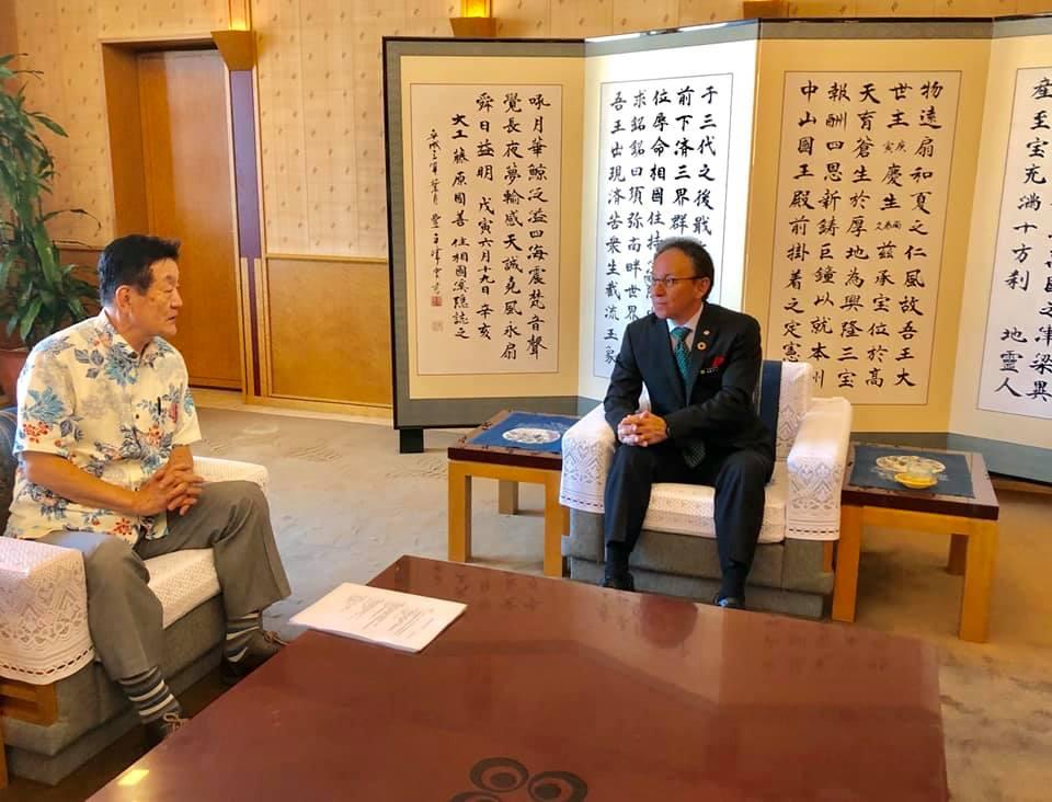沖縄県玉城知事と懇談