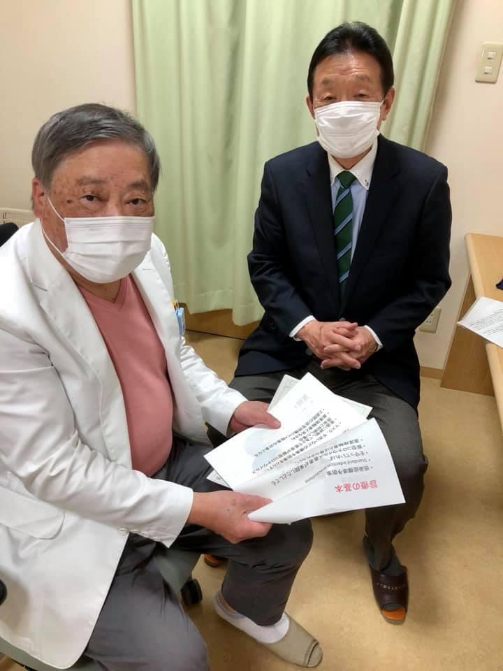 松倉則夫鹿島医師会会長から、新型コロナウィルスへの対応を伺う
