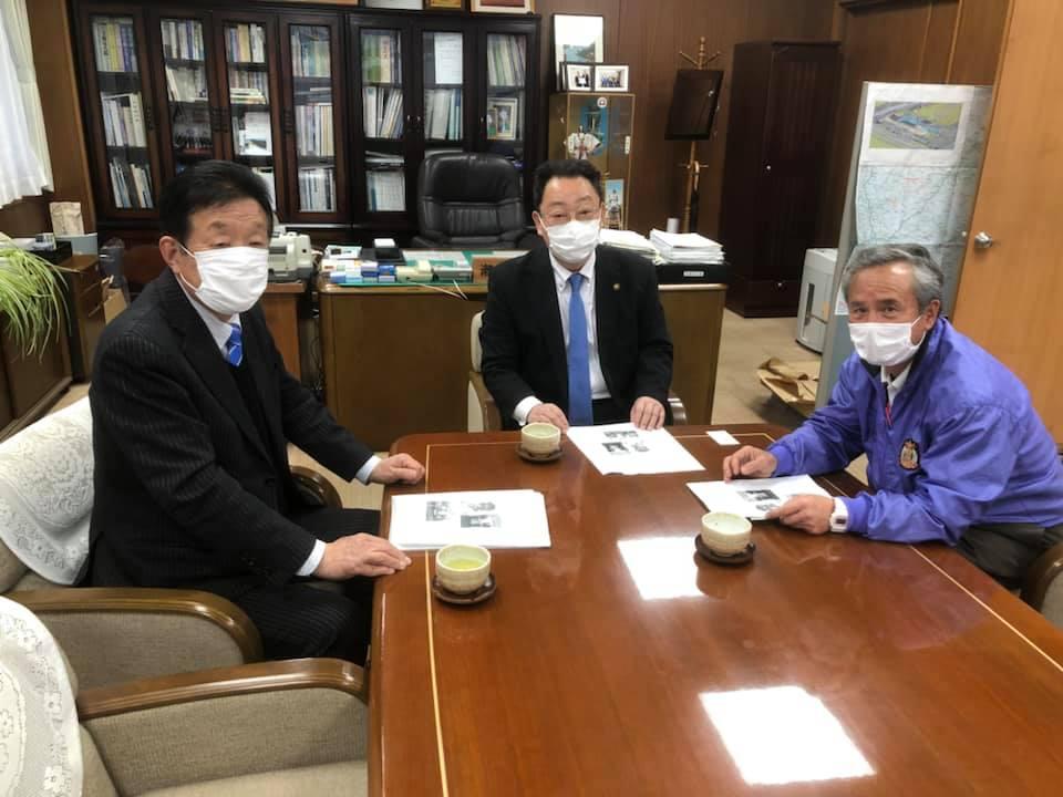 潮来市原浩道市長と笠間丈夫市議会議長を訪問。観光が大打撃