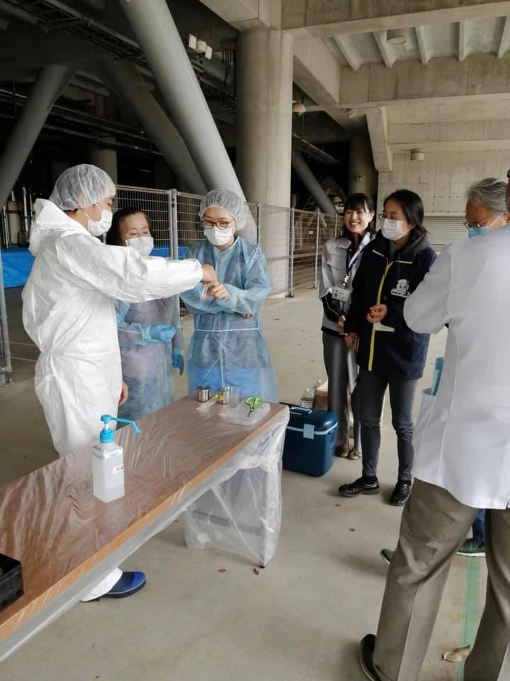 鹿島医師会主催のアントラーズスタジアムでのPCR検査を視察
