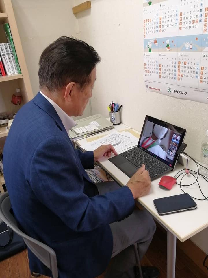 国際IC日本協会の理事会にオンラインで出席