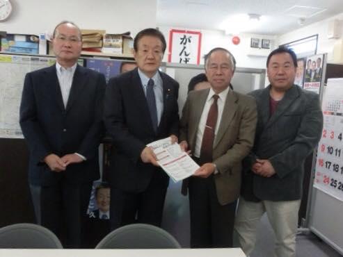 篠原勉後援会長とフェースブック7年目の友達記念日