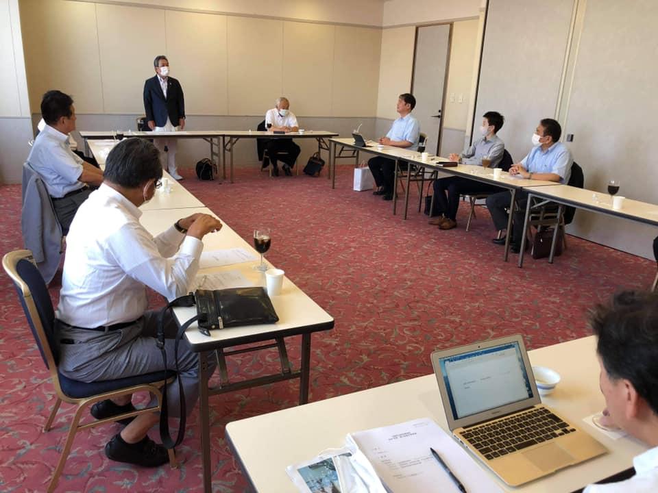 県連幹事会で合流新党への動きと確認