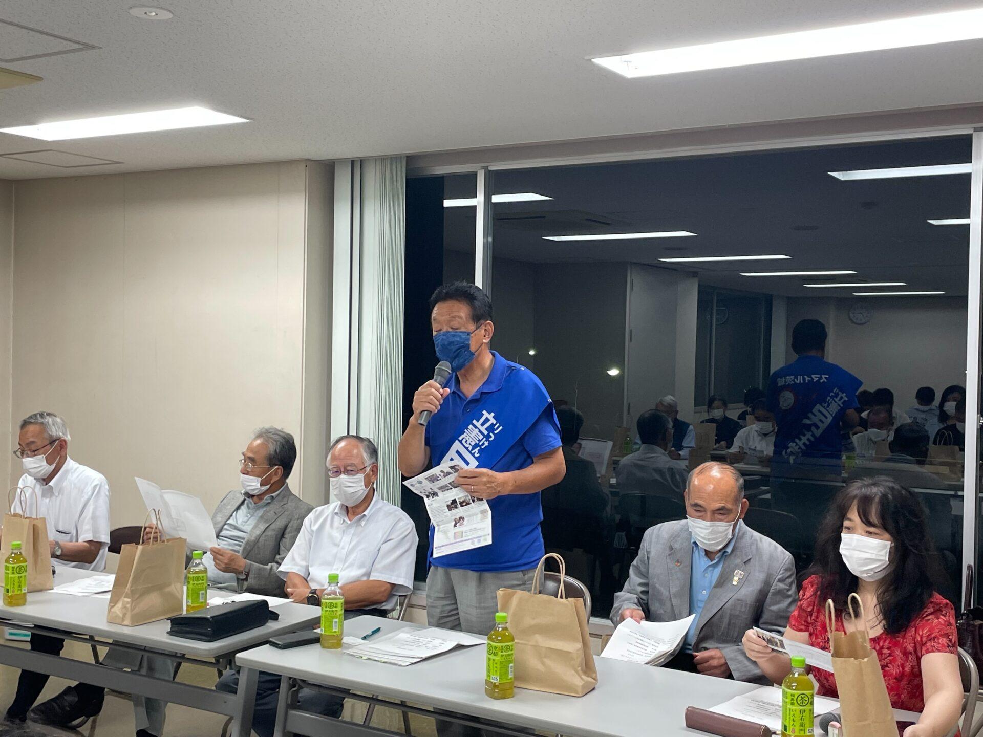 柔道ベテランズ国際大会の金メダリストの羽生利彦さんが応援に駆